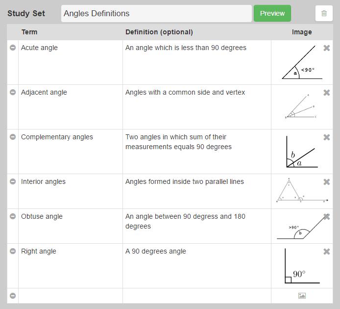study-set-angle-definitions